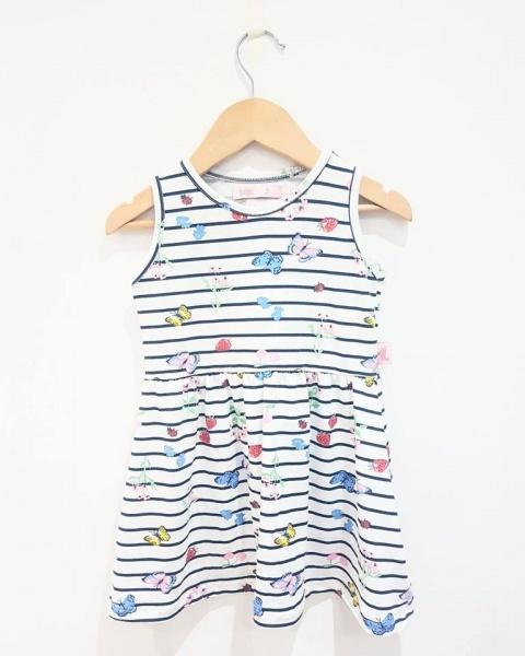 vestidos estapados para bebes verano 2018 - Babu moda infantil
