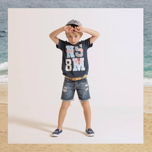 bermuda de jeans y remera primavera verano 2018 - Mimo co