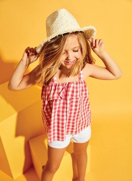 blusa a cuadros para nena verano 2018 - Cheeky