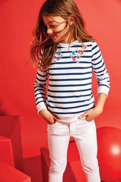 buzo bordado y jeans para nena verano 2018 - Cheeky