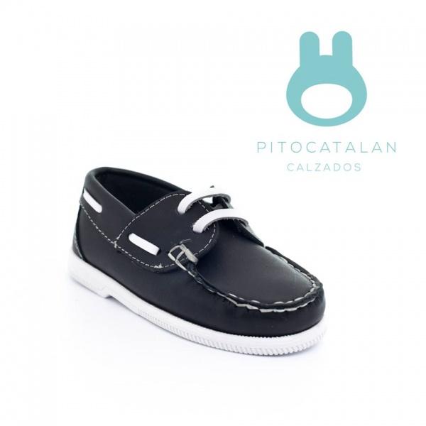 nautico de cuero Pitocatalan calzado para chicos primavera verano 2018