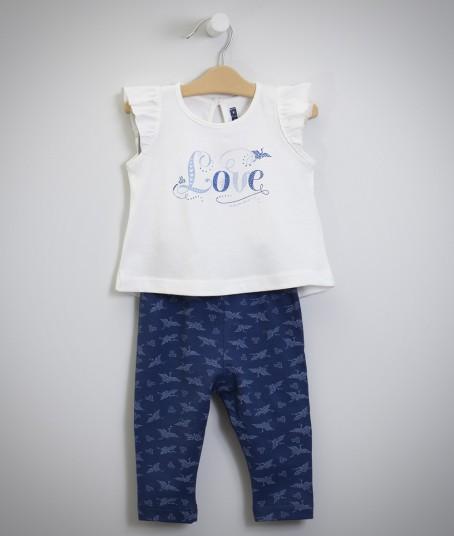 remera y pantalon estampado para nena minimimo primavera verano 2018