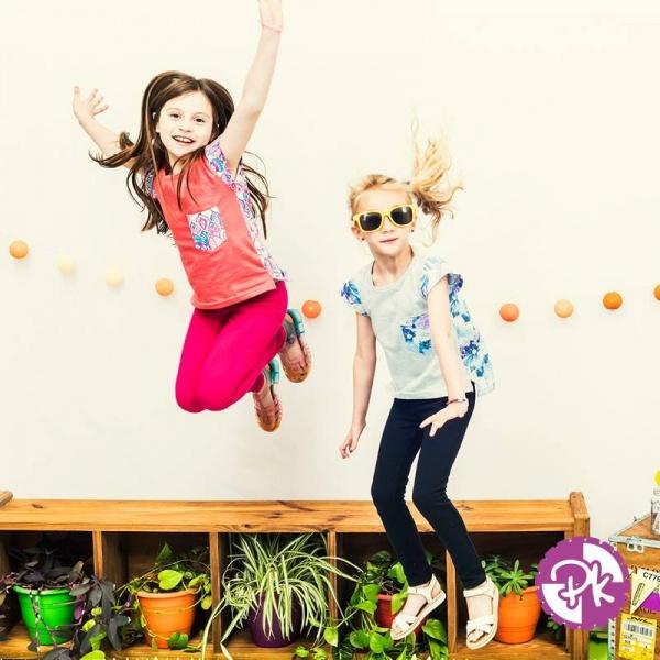 remeras y calzas para niñas Pako Peko primavera verano 2018