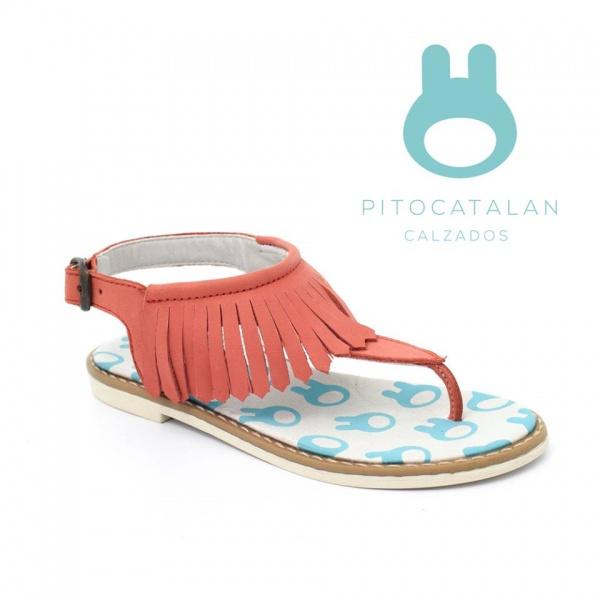 sandalia con flecos niña Pitocatalan calzado para chicos primavera verano 2018