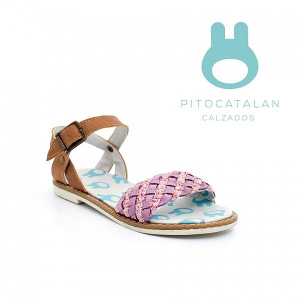 sandalia trenzada niña Pitocatalan calzado para chicos primavera verano 2018