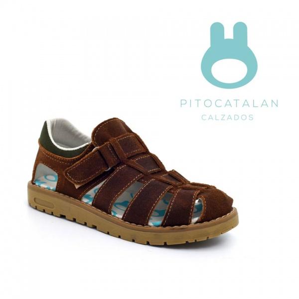 sandalias de cuero para varon Pitocatalan calzado para chicos primavera verano 2018