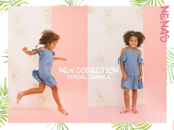 vestido informal para nena verano 2018 Nucleo Nenas