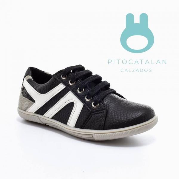 zapatilla de cuero Pitocatalan calzado para chicos primavera verano 2018