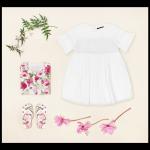 Vestido blanco para nena verano 2018 Little Akiabara