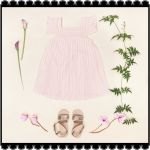 Vestido rosado para nenas verano 2018 Little Akiabara