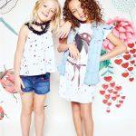 blusa para niña y shores de jeans Kosiuko primavera verano 2018