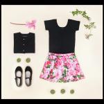 falda estampada para niña verano 2018 Little Akiabara