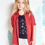 pollera estrella y camisa de gabardina niña Kosiuko primavera verano 2018