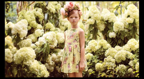 vestido amarillo estampado verano 2018 Little Akiabara