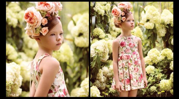 vestido floreado para nenas verano 2018 Little Akiabara