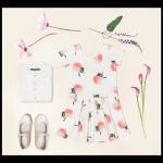 vestido mangas cortas verano 2018 Little Akiabara