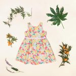 vestido para nena estampado frutal verano 2018 Little Akiabara