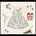 vestido para nena estampado verano 2018 Little Akiabara