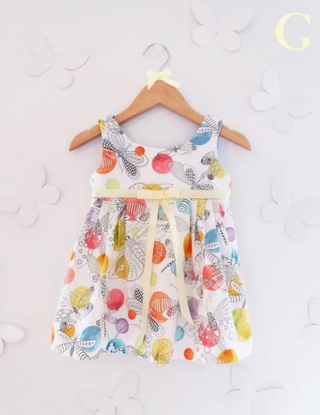 vestidos coloridos para nenas Girls Boutique verano 2018