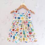 vestidos de algodon con estampas coloridas para niñas Girls Boutique verano 2018