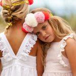 Vestido blanco para nenas verano 2018 PIOPPA