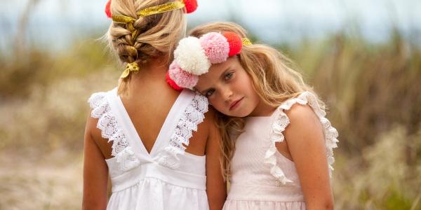 Vestido blanco para nenas verano 2018 - PIOPPA