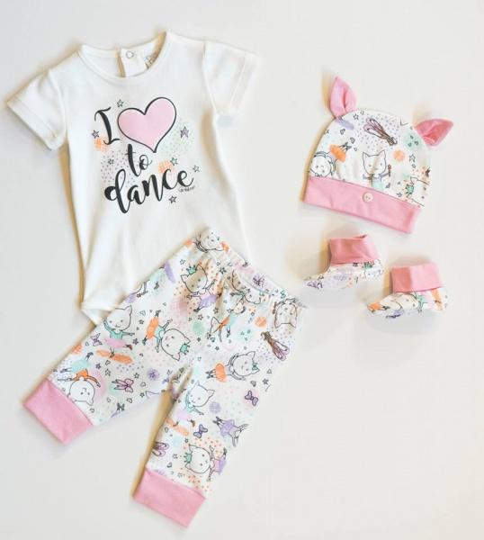 body y pantalon bebes bailarina Grisino ropa infantil verano 2018