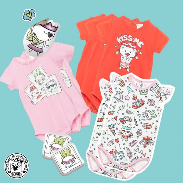 bodys bebes Grisino ropa infantil verano 2018