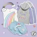 conjunto remera arco iris Grisino ropa infantil verano 2018