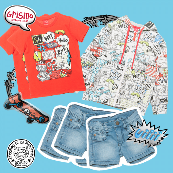 look casual para niños Grisino ropa infantil verano 2018