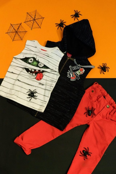 remera hallowen Grisino ropa infantil verano 2018