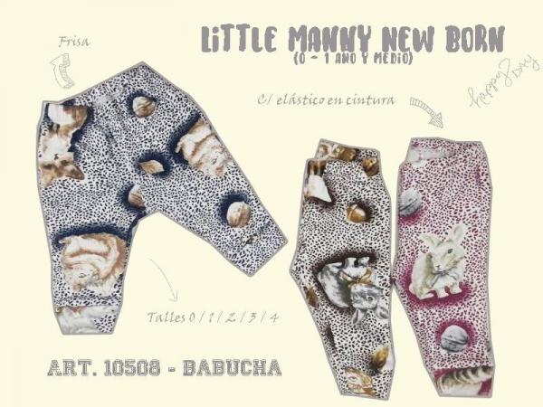 babucha para beba animal print little manny otoño invierno 2018