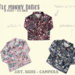 camperas de gabardina estampada para niñas little manny otoño invierno 2018