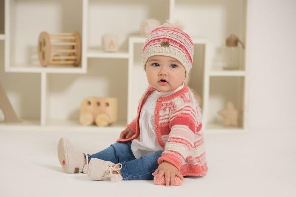 cardigan tejido para beba minimimo otoño invierno 2018
