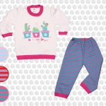 conjunto de algodon a rayas coloridas bebes gamise otoño invierno 2018