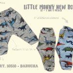 pantalon joggins con frisa dinosaurios niños little manny otoño invierno 2018