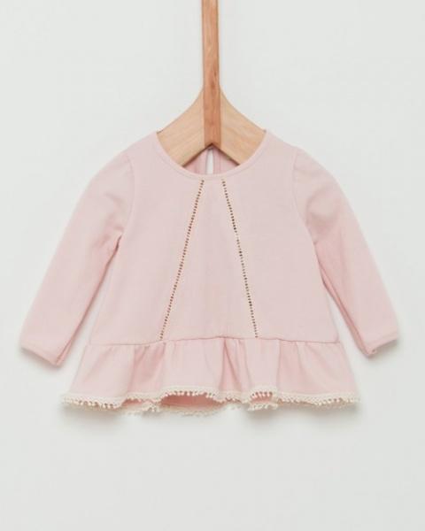 blusa mangas largas con puntilla y volado beba Wanama Boys Girls otoño invierno 2018