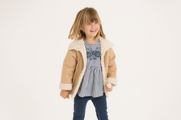 blusa y campera forrada en corderito para nena mimo co otoño invierno 2018