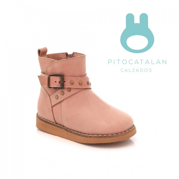 nueva estilos cd549 8f8b1 botas rosadas niña Pitocatalan otoño invierno 2018 – Minilook