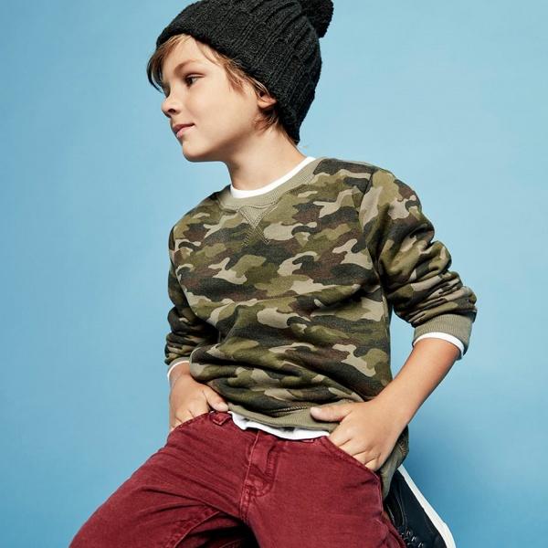 buzo camuflado cheeky niños otoño invierno 2018