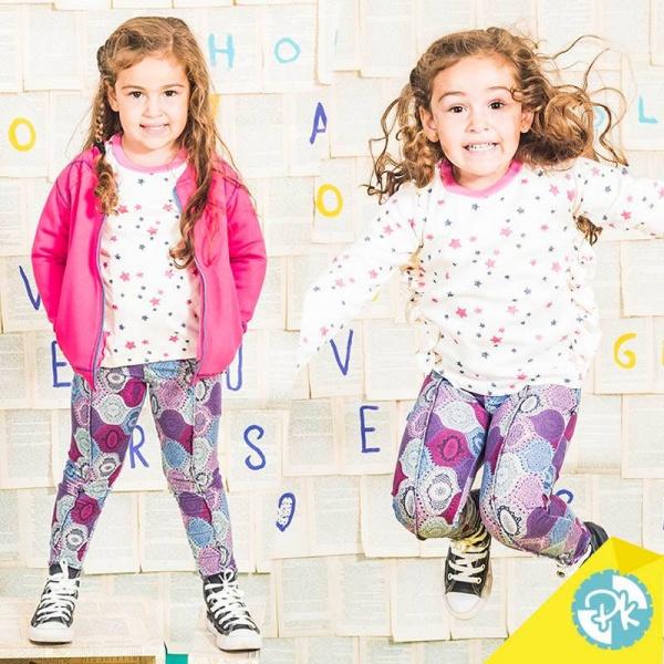 calzas estampadas para niñas Pako peko otoño invierno 2018