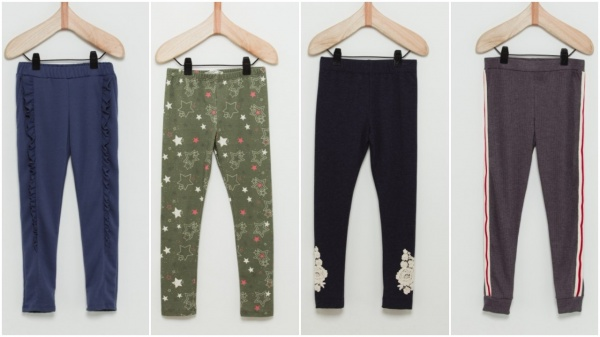 calzas para nena volados estrella encaje rayas Wanama Boys Girls otoño invierno 2018