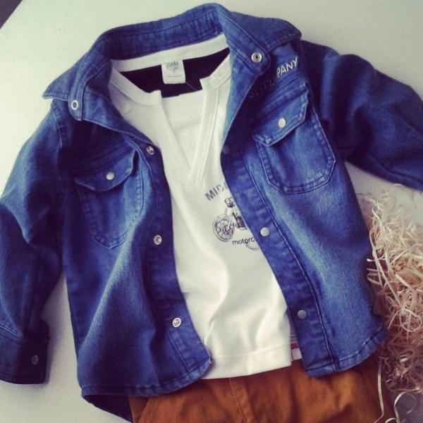 camisa de jeans para niños globito team otoño invierno 2018