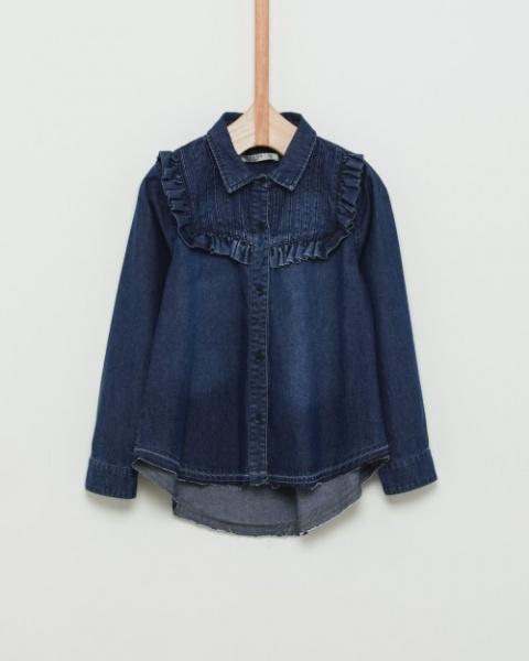 camisa jeans niña con volado Wanama Boys Girls otoño invierno 2018