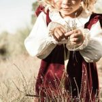 camisa niña volados broderie vestido terciopelo bordo Pioppa otoño invierno 2018