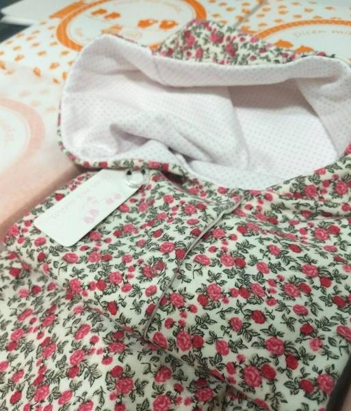 camperas con capucaha algodon frizado estampado bebes dicen mis sueños otoño invierno 2018