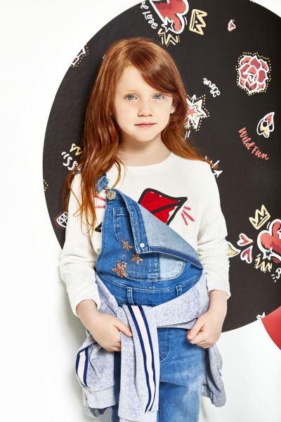 jardinero jeans niña kosiuko kids otoño invierno 2018