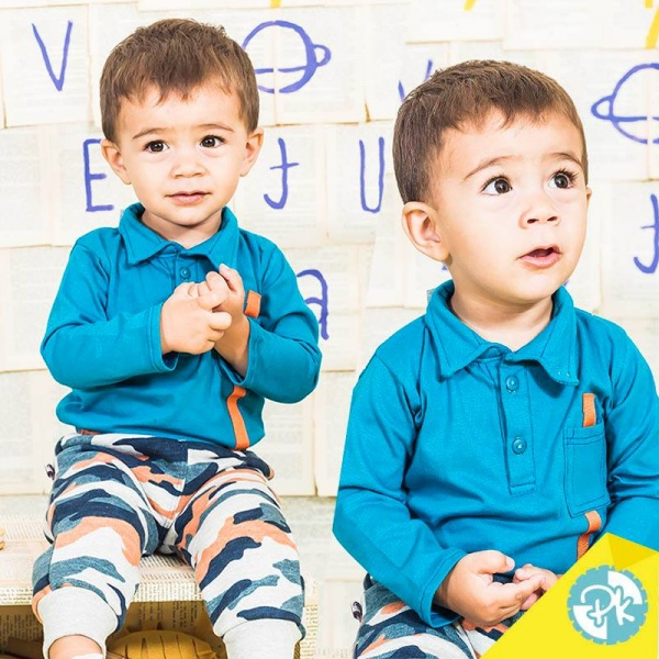 pantalon camuflado y chomba mangas largas para niños Pako peko otoño invierno 2018