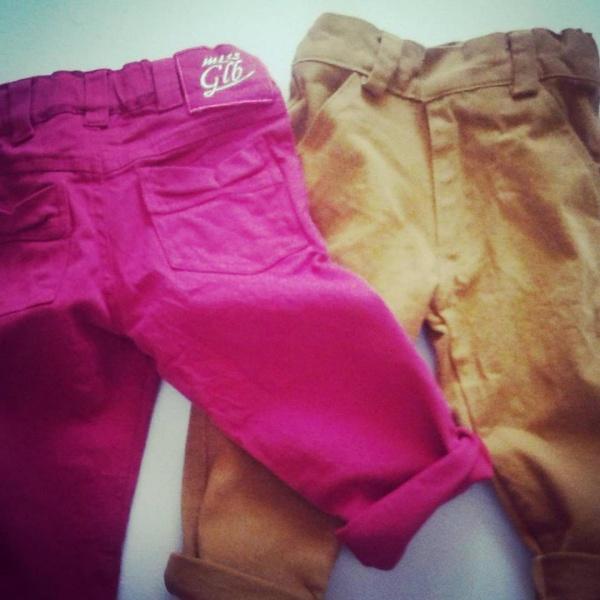 pantalones de gabardina elastizada para bebes globito otoño invierno 2018