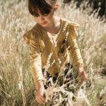remera color mostaza mangas largas volado niña Pioppa otoño invierno 2018